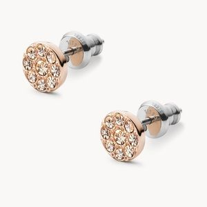 Fossil Rose Gold Stud Earrings